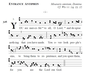Proper of the Mass - Ash Wednesday Entrance Antiphon (i)