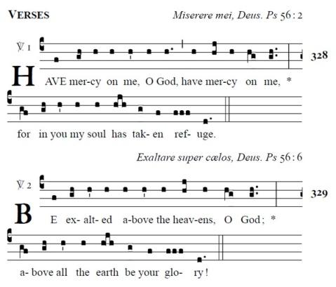 Samuel Webber Propers - Ash Wednesday Introit verses